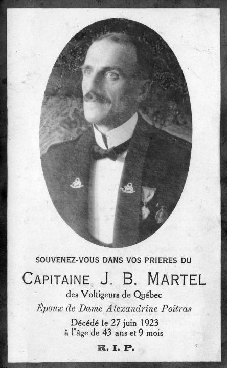Martel Jean-Baptiste, militaire Carte mortuaire