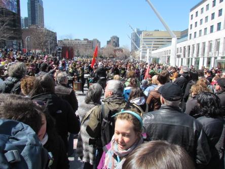 Montréal Jour de la Terre Foule
