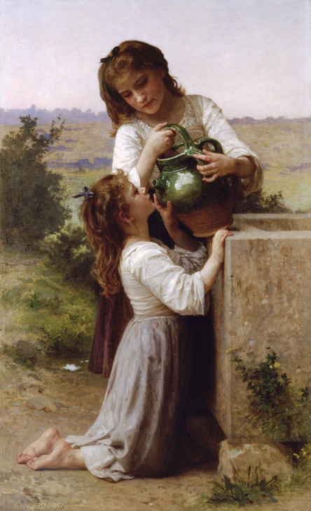 Bouguereau_At_The_Fountain_(1897)