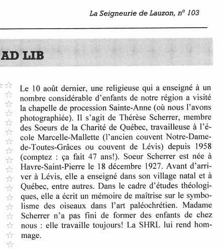01 2006-08-10 _ T. Scherrer La Seigneurie de Lauzon, no 103, 2006 - Version 2