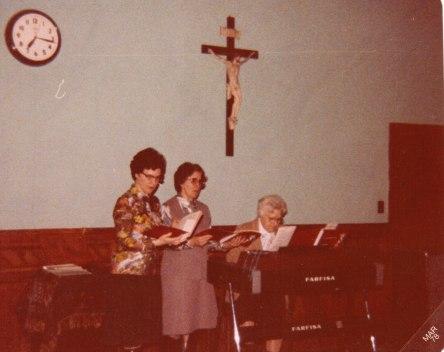 04 1978 Soeurs Brigitte Montambault, T. Scherrer et Mamie Martel 1978-02-25