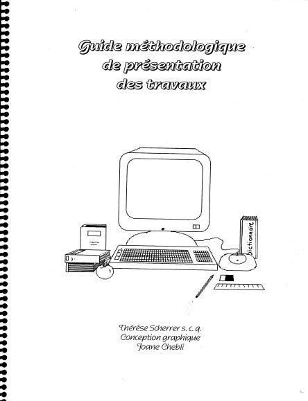 T. Scherrer Guide de presentation des travaux