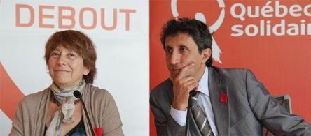 Francoise David et Amir Khadir 2012 QS