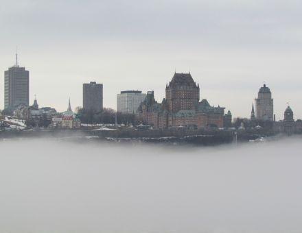 Québec vue de l'escalier rouge de Lévis 15 avril 2014