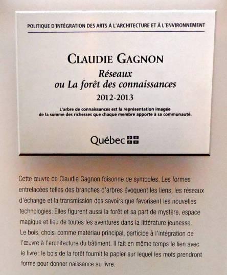 Bibliotheque M. Corriveau_Foret des connaissances_Quebec 2014 - Version 2
