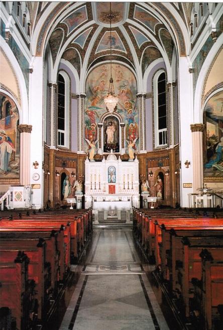 Oratoire St-Joseph Qc_Carte postale_chapelle, interieur