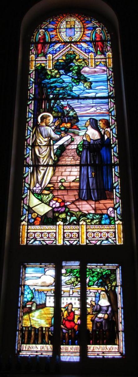 xQuébec Oratoire St-Joseph_Nincheri_Vision de M. de l'Incarnation