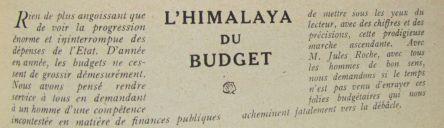 xa L'Himalaya des budgets
