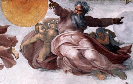2 dieu cree terre et soleil_Michel-Ange