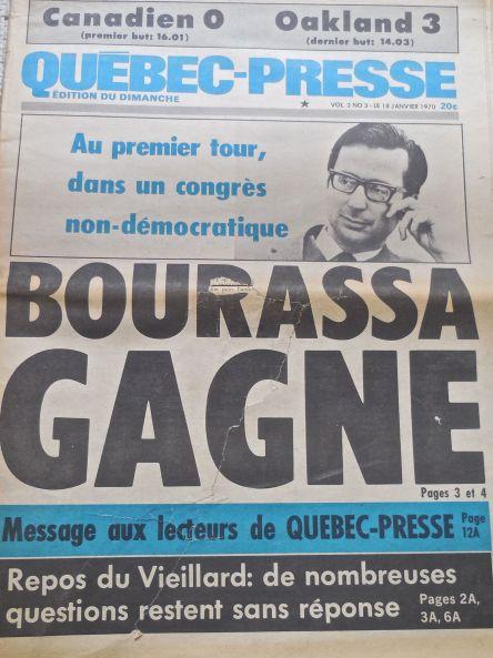 Québec-Presse 18-01-1970 vol 2 no 3 Une
