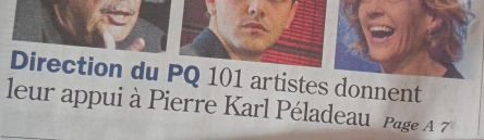 101 artistes appui à P-K Peladeau Devoir 29-04-2015_1