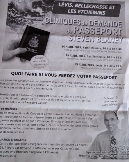 Blaney Clinique demande de passeports