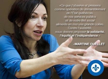 Martine Ouellet 2015 PQ solidarite equite independance