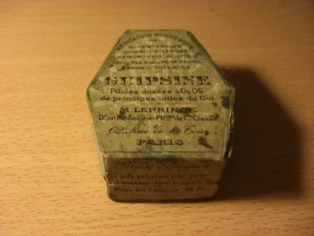 Guipsine Leprince_boite en forme de cercueil