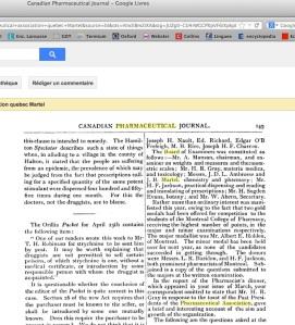 Jean-Baptiste Martel - membre Association pharmaceutique  Canadian Pharmaceutical Jounal Vol 17 187 - Version 2