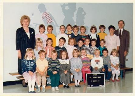 4 1988-09 Eveline Martel en classe, ecole St-Dominique