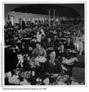 Etranger_Quebecois travaillant à Lowell Hosiery Company v 1880