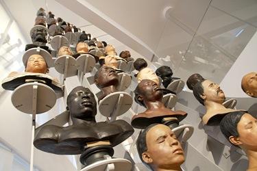 3 hominidés bustes-hommes Musée de l homme 2015