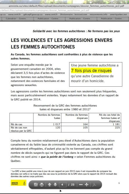 Violence et agressions contre femmes autochtones_d3