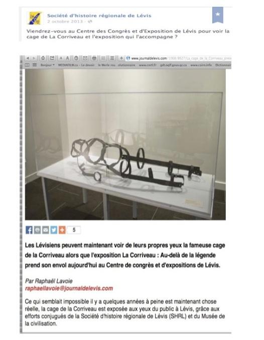 Cage Corriveau texte de SHRL 2 oct 13  - Version 2
