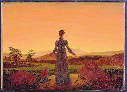 Femme-dans-soleil-matin-tableau-K-G-Friedrich-Musee-du-Louvre