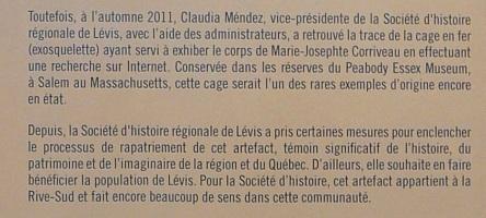La Corriveau_Expo Gare intermodale Levis 2013-07_authenticite certaine