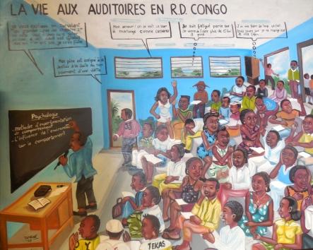 Tableau vu au cegep de Lévis-Lauzon le 2 sept. 2016. auditoire = salle de casse.