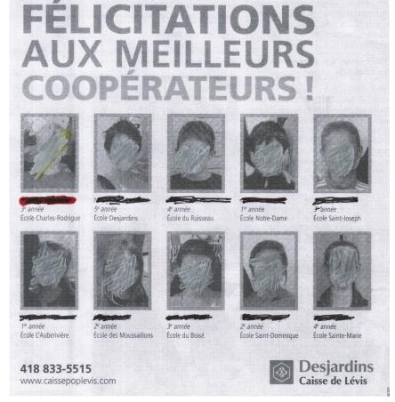 caisse scolaire Desjardins jeunes cooperateurs